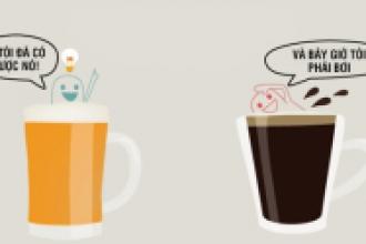 Tác động tích cực của bia và cà phê trong công việc